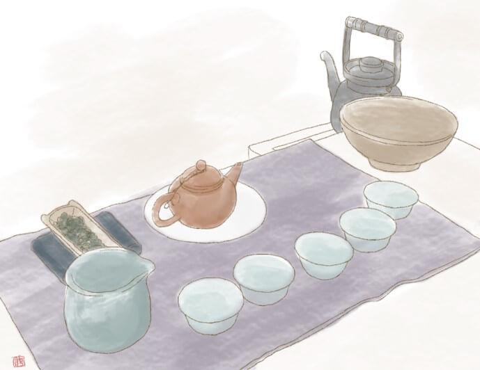 中国茶 茶器 配置 茶席