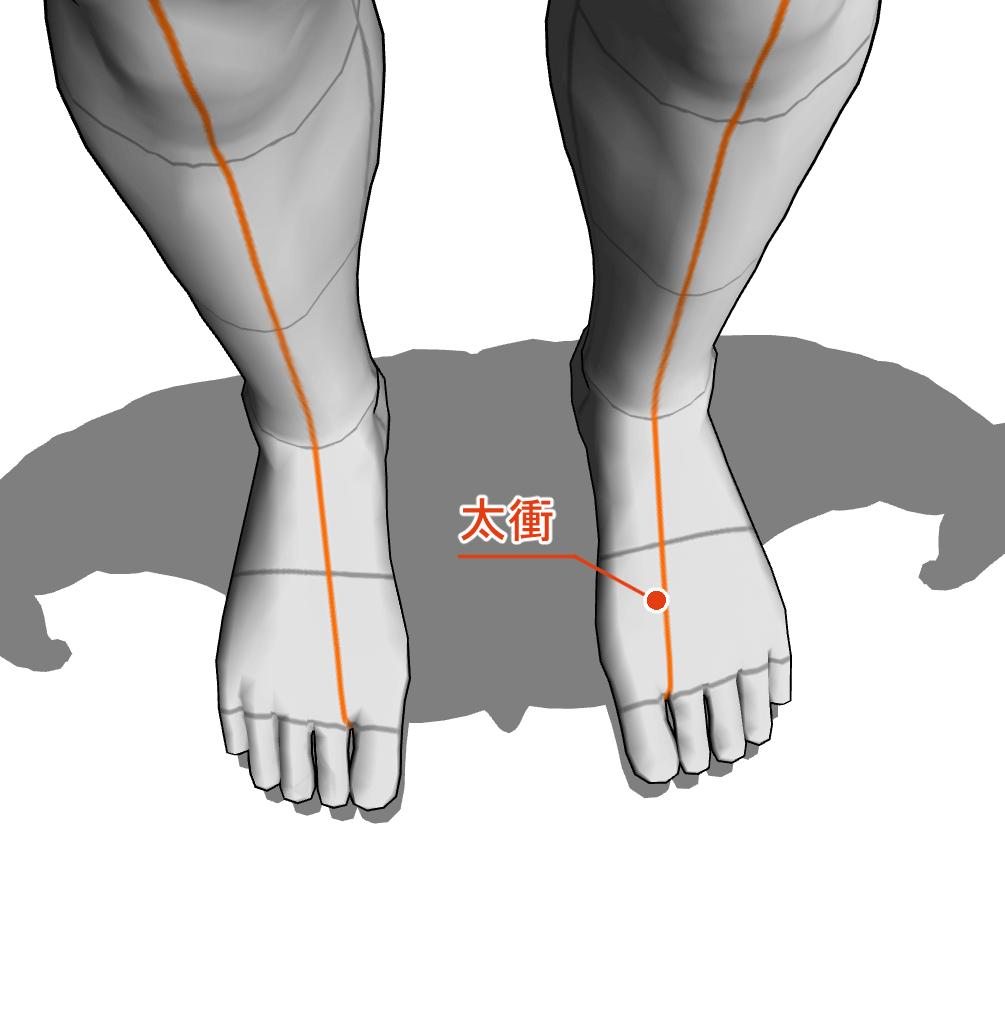 太衝 ツボ 経絡 経穴