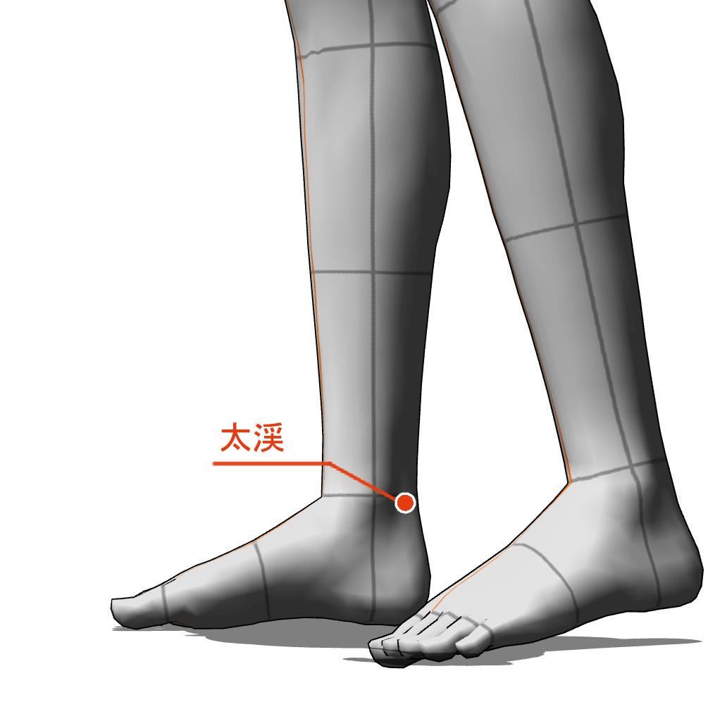 太渓 ツボ 経絡 経穴